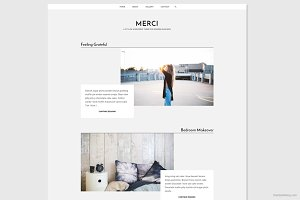 Merci - Stylish WordPress Theme