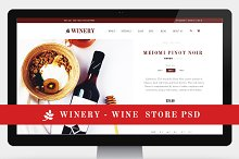 Winery - Wine Store PSD Template