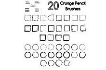 20 grunge pencil brushes