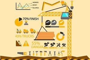 Construction elements, infographics