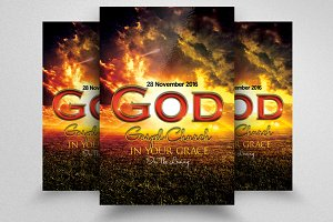 Jesus City Church Flyer Template