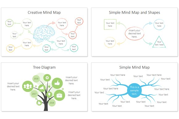 Mind map infographic for powerpoint presentation templates mind map infographic for powerpoint presentation templates creative market ccuart Images