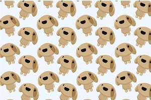 Chibi dog pattern