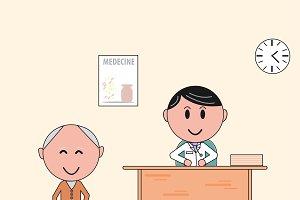 Doctor cabinet.Doctor visit.Medecine