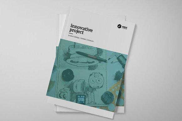 Project brochure template brochure templates on creative for Project brochure template