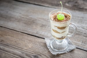 Tiramisu in the glass