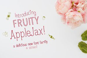 Fruity AppleJax - Handwritten Fonts