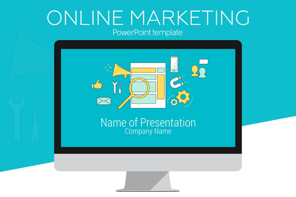 Online Marketing PowerPoint Template ~ Presentation Templates ...