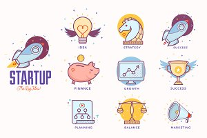 Illustrations for startup project