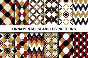 Retro ornamental patterns.