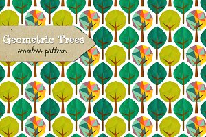 Geometric Trees pattern & 2 Trees