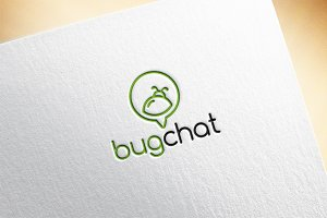 Bug Chat Logo Template