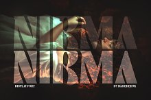 Nirma - Display Font by  in Fonts