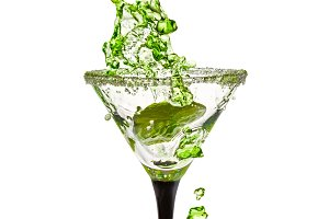 Martini Glass with a splash of