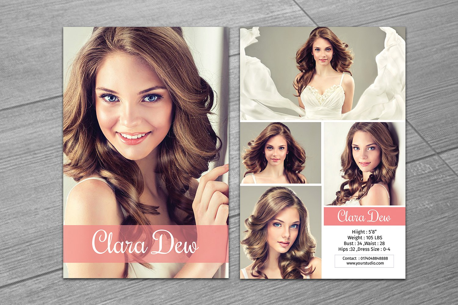 Modeling Comp Card Template-V21 Pertaining To Comp Card Template Psd
