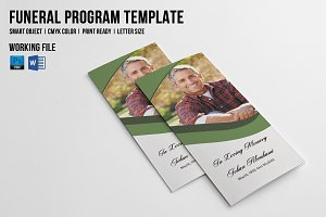 Trifold Funeral Template-V449