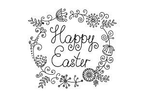 HAPPY EASTER original hand lettering