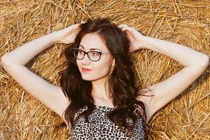 pretty girl in glasses