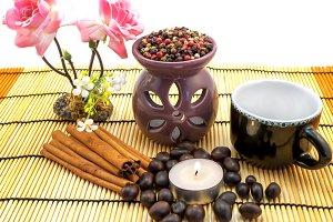 Tea ceremony isolated on white