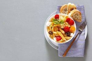 Healthy summer light pasta