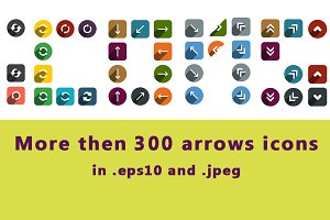 Above 300 arrows icons