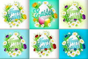 Easter greeting cards invitation