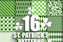 16 Green patterns for Patrick