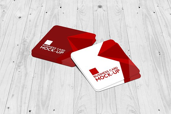Square business card mockup set product mockups creative market reheart Images