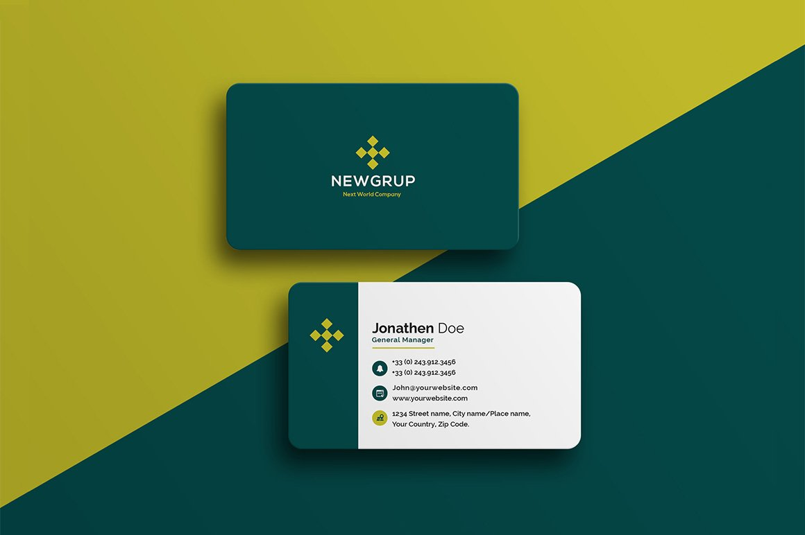 Corporate Business Card #22 ~ Business Card Templates ~ Creative Market