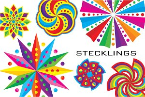 Stecklings: 99 Colorful Icons!