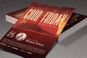 Hill to Die On Church Flyer Template