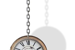 Clock and chain