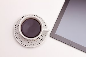 Ipad and coffee