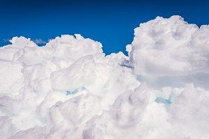 ice on Snow Mountain, A Veiga, Galicia, Spain.