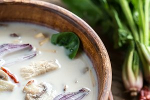 Thai coconut cream soup