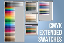 CMYK Extended Swatches-Illustrator by  in InDesign Palettes
