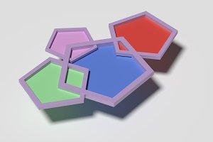 Colored pentagons