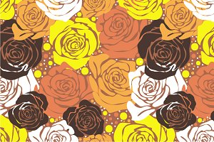 "Seamless pattern ""Yellow roses"""