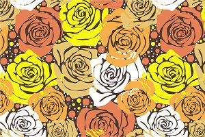 "Seamless pattern ""Yellow roses-II"""