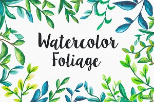 16 Watercolor foliage