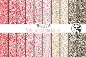 Seamless Girly Pink Glitter Texture