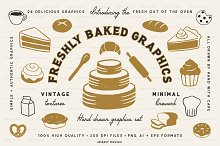 Freshly Baked Graphics Bakery Icons by  in Graphics