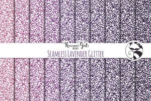 Seamless Lavender Glitter