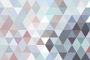 Subtle Color Triangle Mosaic