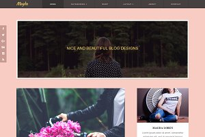 Wordpress Theme Feminine Blog Pink