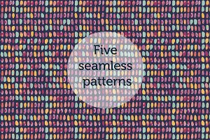 5 simple seamless patterns