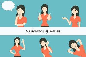 Woman in 6 gestures