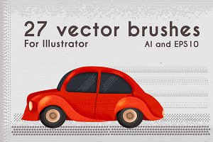 27 Vector brushes for Illustrator