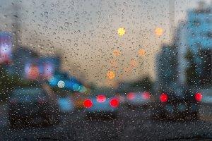 Rain drop On the car