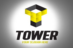 Tower Logo Design Template